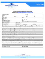 PCN Short Form Application